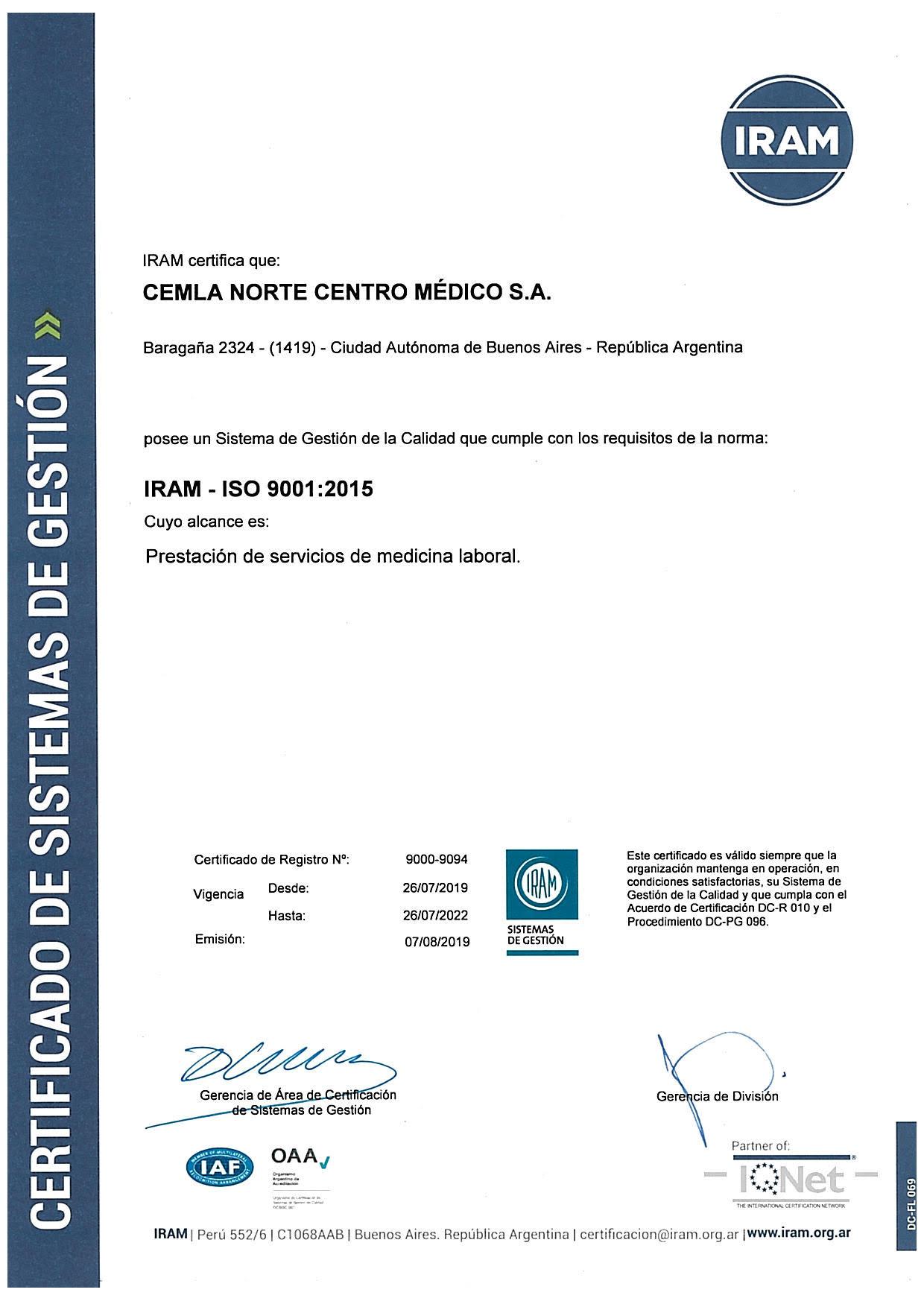 CEMLA_ISO9001_CNorte