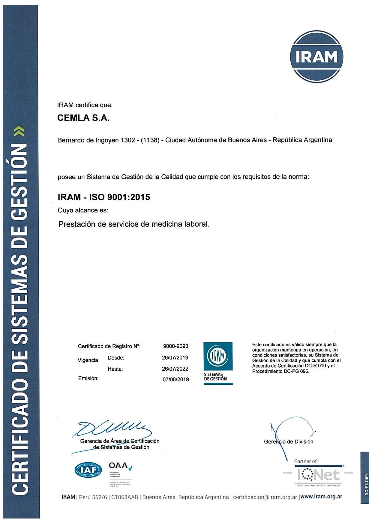 CEMLA_ISO9001_CSur
